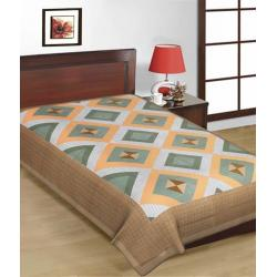 Saganeri & Jaipuri Printed Cotton Single Bedsheets