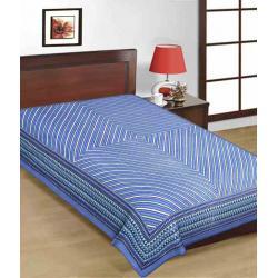 Saganeri & Jaipuri Printed Cotton Single Bedsheets 2
