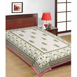 Saganeri & Jaipuri Printed Cotton Single Bedsheets 2