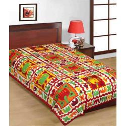 Saganeri & Jaipuri Printed Cotton Single Bedsheets 3