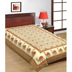 Saganeri & Jaipuri Printed Cotton Single Bedsheets 4