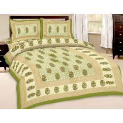 Booti Printed Double Bed Sheet With 2 Pillow Cover 3