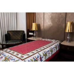 Jaipuri Printed New Traditional Checkered Single Bed Sheet