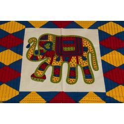 Jaipuri Printed New Traditional Checkered Single Bed Sheet 3
