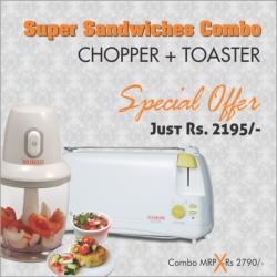 CLEARLINE - MINI CHOPPER + AUTOP POP UP TOASTER COMBO