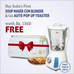 CLEARLINE - SOUP MAKER CUM BLENDER WITH POP UP TOASTER FREE