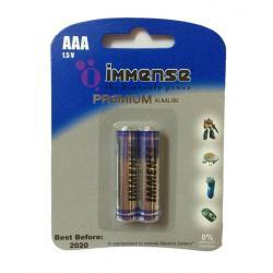 Immense AAA LR03 Premium 1.5v Alkaline Battery (20 Blister Packs with 2 Cells each)- Total- 40 Cells