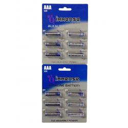 Immense AAA LR03 Premium 1.5v Alkaline Battery (10 Blister Packs with 6 Cells each)- Total- 60 Cells
