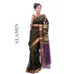 Cotton mehdi Saree - ALMN