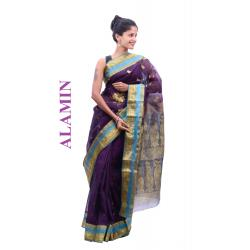 Silk Royal Blue Saree - ALMN