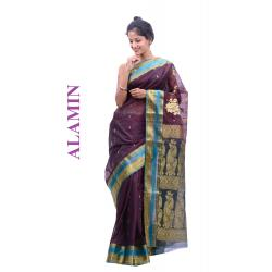Silk light Plum Saree - ALMN