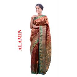 Silk Dusty Rose Saree - ALMN