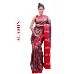 Silk Pink 3D Saree - ALMN