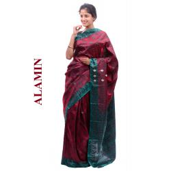 Silk Red Saree - ALMN