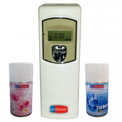 Automatic Air Freshener Dispenser(Digital) With Refill - Cool Breeze & Rose Petals