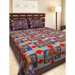 Sanganeri Jaipuri Rajasthani Printed Double Bedsheet THH-156