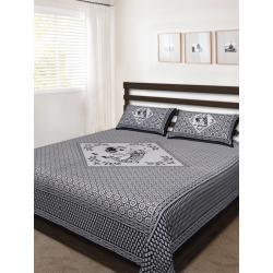 Sanganeri Jaipuri Rajasthani Printed Double Bedsheet THH-158