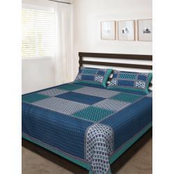 Sanganeri Jaipuri Rajasthani Printed Double Bedsheet THH-160
