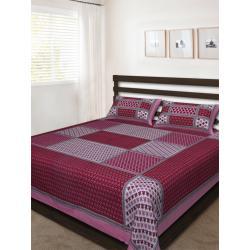Sanganeri Jaipuri Rajasthani Printed Double Bedsheet THH-170