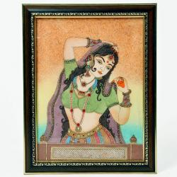 Waiting Princess Bani Thani Gemstone Painting