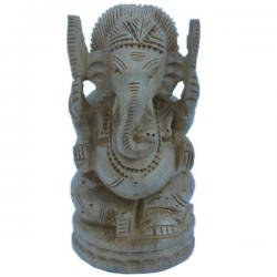 Fine Carved Lord Ganesha Design Wooden Gift