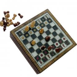 Handmade Rajasthani Gemstone Chessboard Game