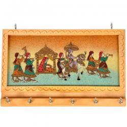 Gemstone Painting 6 Key Hanger Handicraft Gift