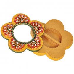 Exclusive Kundan Meenakari Flower Container