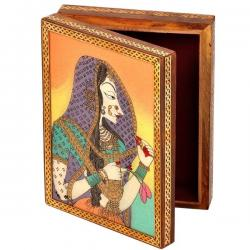 Gemstone Powder Bani Thani Painting Wooden Box