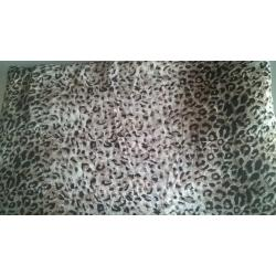 Cheetah Print Chiffon fabric