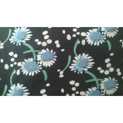 Black Micro print polyester