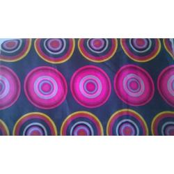 Black/Pink Digital Print  fabric