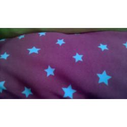 Vermillion Star printed polyester fabric
