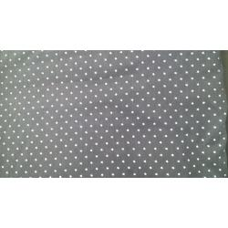 Micro star print Grey cotton fabric
