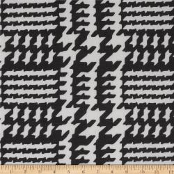 Black Houndstooth Fabric