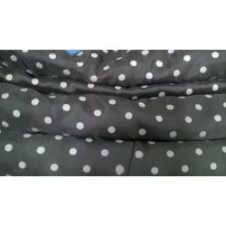 Black Rayon Polka Dot fabric