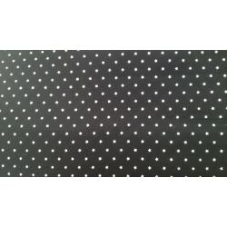 Micro star print Black cotton fabric