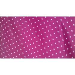 Pink Rayon Polka Dot fabric