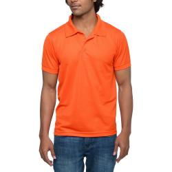 Mens Orange Polo T-shirt