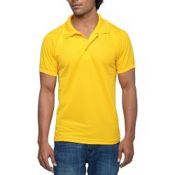 Mens Yellow Polo T-shirt