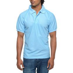 Mens Light Blue Polo T-shirt