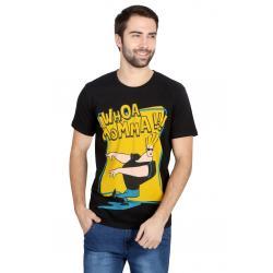 Planet Superheroes - Johnny Bravo - Whoa Momma Black T-Shirt