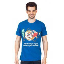 Planet Superheroes - Dexter - Book A Day Dark Blue T-Shirt