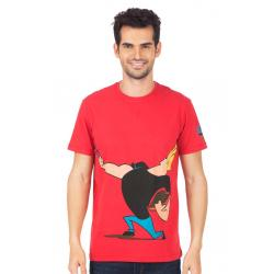 Planet Superheroes - Johnny Bravo - The Love Machine Red T-Shirt