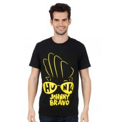 Planet Superheroes - Johnny Bravo - Hunk In Your Eyes Black T-Shirt