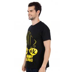 Planet Superheroes - Johnny Bravo - Hunk In Your Eyes Black T-Shirt 2