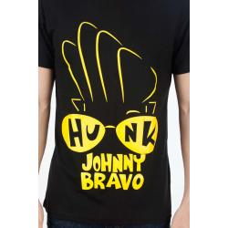 Planet Superheroes - Johnny Bravo - Hunk In Your Eyes Black T-Shirt 4