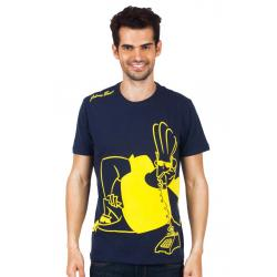 Planet Superheroes - Johnny Bravo - On Phone Dark Blue T-Shirt 4