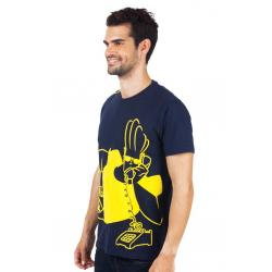 Planet Superheroes - Johnny Bravo - On Phone Dark Blue T-Shirt 2