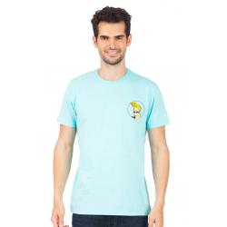 Planet Superheroes - Johnny Bravo - On Back Light Blue T-Shirt